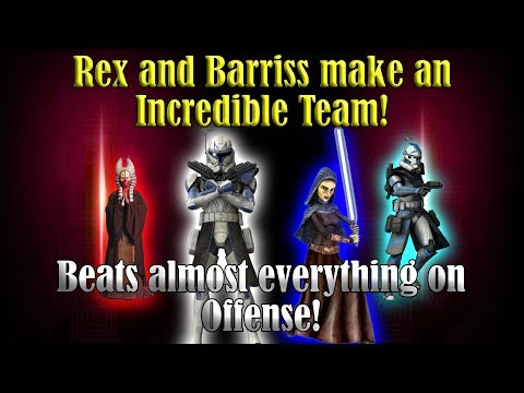 Rex and Barriss make an INCREDIBLE team! Defeats almost anything on Offense!