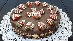 İftara 20 dakikada fırınsız, miksersiz kolay pasta tarifi. Mozaik pasta tarifi