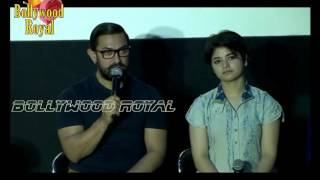 Aamir Khan Launches 'Dangal' Song With Nitesh Tiwari, Zaira Wasim & Suhani Bhatnagar Part 3