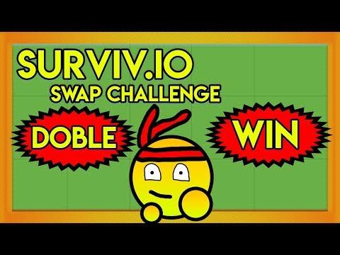DOBLE EPIC WIN EN EL MISMO RETO!!!! | SWAP CHALLENGE | SURVIV.IO