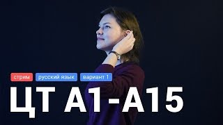 ЦТ Русский язык А1-А15 (2018 г. вариант 1)