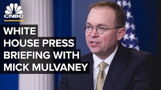 White House Acting Chief of Staff Mick Mulvaney holds a press briefing – 10/17/2019
