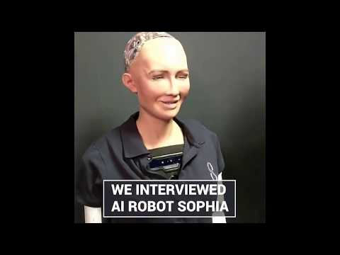 Sophia the AI robot had something to say about Bitcoin!