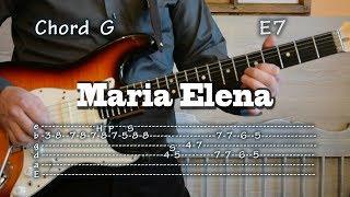 Maria Elena - Guitar Tabs and chords, lesson, como tocar, レッスン , урок, табулатуры