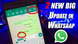 2 New Big Update by WhatsApp July 2017😋