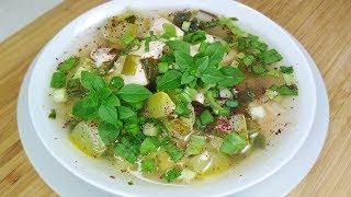 Как приготовить очень вкусный Суп из кабачков. Густой Суп с кабачками и курицей.