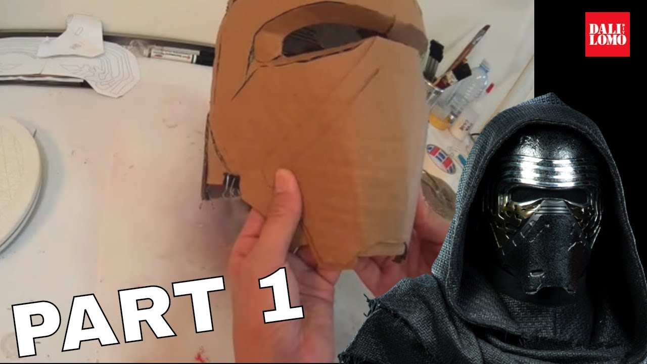 How to make Kylo Ren Helmet Part 1 - Cardboard Cosplay DIY