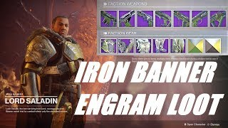 IRON BANNER LOOT FIRST LOOK! DESTINY 2