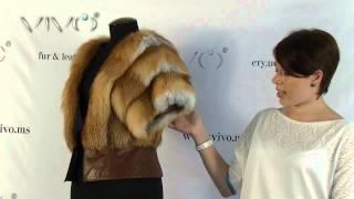 Жилетка из рыжей канадской дикой лисы ГЛОРИЯ. Профессиональный пошив меховых жилеток жилеток.(Здравствуйте, Вас приветствует студия меха «Vivo» и я -- Виталина! Сегодня мы представляем Вам жилетку «Глория..., 2013-12-30T07:55:37.000Z)