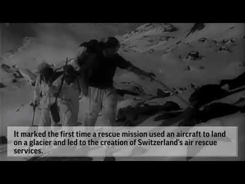 Wreckage of WWII Plane Unearthed In Swiss Alps