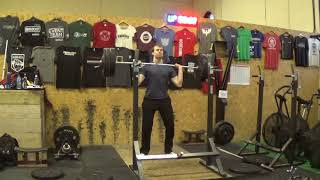 Mike - Olympic lifting - Jerk Training 3 reps set