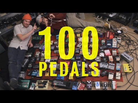 This is what 100 guitar pedals chained together sounds like