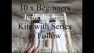 10 x Beginners Junk Journal Physical Kit & Series on Youtube & Gosford Green Intro
