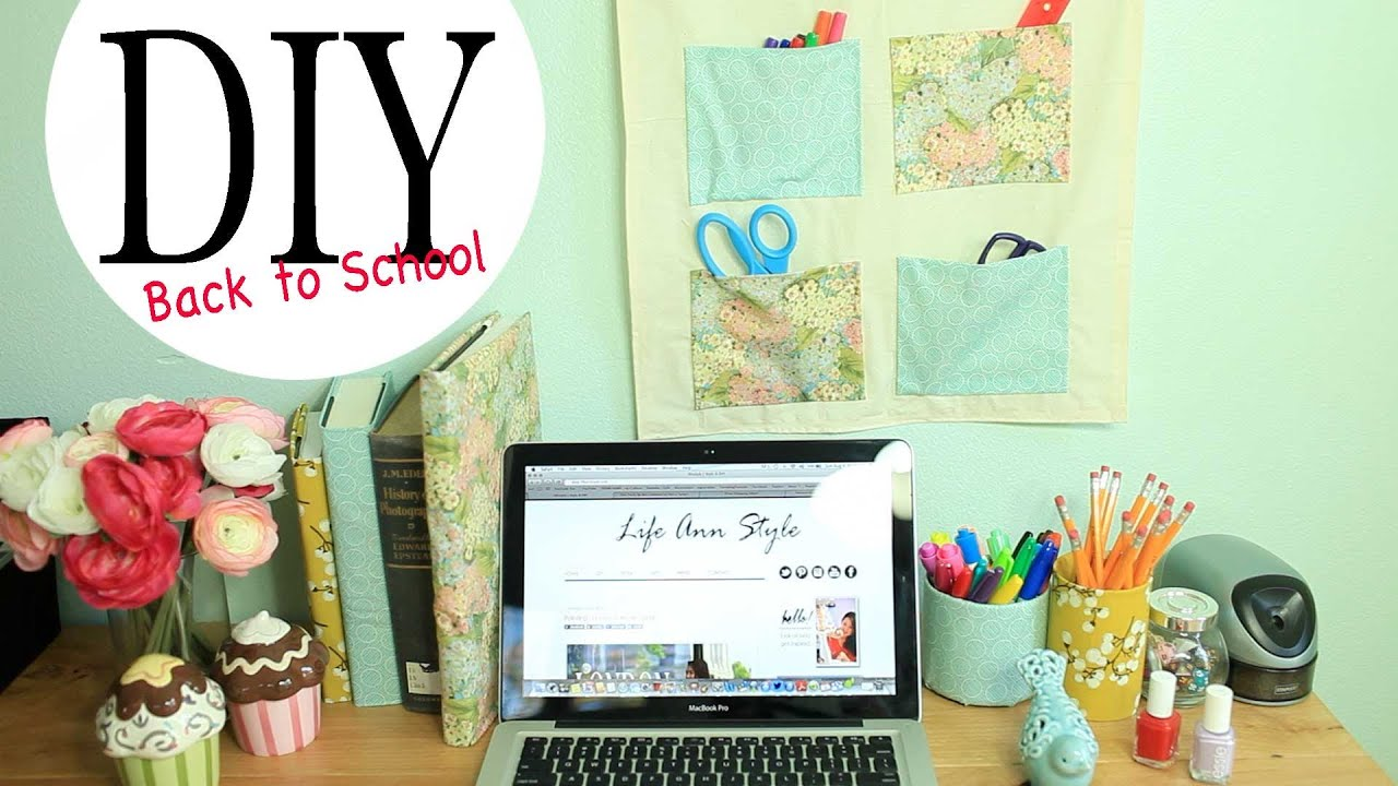 DIY Wall Organizer & Desk Accessories {Back To School