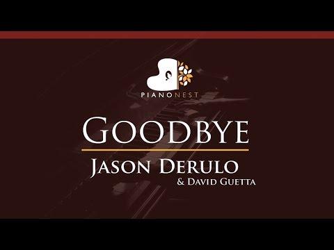 Jason Derulo X David Guetta - Goodbye Feat. Nicki Minaj - HIGHER Key (Piano Karaoke / Sing Along)