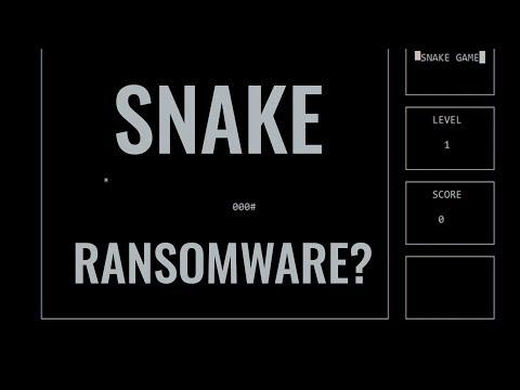 Ransomware Snake Game | Kryptonite