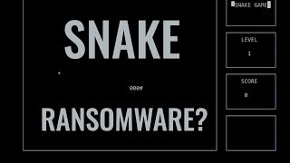 Ransomware Snake Game | Kryptonite