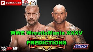 WWE WrestleMania 35  Triple H vs. Batista (No Holds Barred Match) Predictions WWE 2K19
