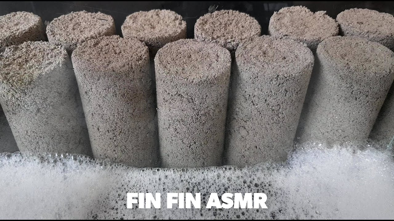 ASMR : Gritty Cylinder Crumble+Dripping in Water #298