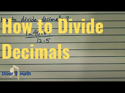 How To Divide Decimals Without Calculator Youtube