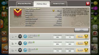 Clash of Clans- I Attacked The Leader Of V.N. Champions+War Attack #1!