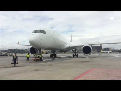 PAL new Airbus A350 XWB lands in Manila