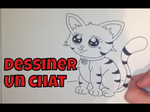 Comment dessiner un chat facile tape par tape youtube - Modele dessin chat facile ...