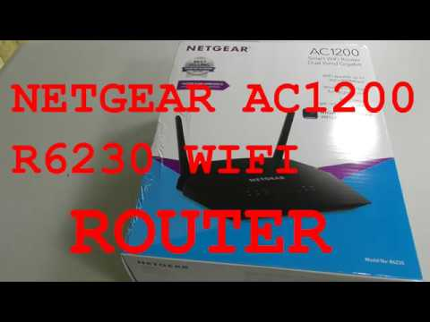 Netgear AC1200 Router Setup and Review - Model R6230 4 x 1G