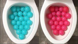 Will it Flush? - Blue vs Pink Plastic Balls, Coca Cola, Sprite, Balloons