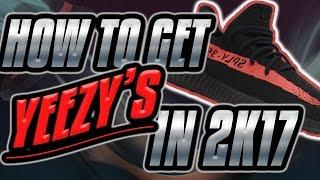 omg yeezy v2 finally in nba 2k17 how to get yeezys in mypark  full tutorial