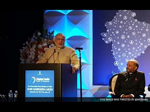 Live: Narendra Modi's Speech at Digital India Event in San Jose, California