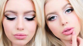 Мой повседневный макияж. Красивый и простой Макияж глаз пошагово!(Видео о том как сделать макияж глаз , чтобы увеличить глаза , как клеить накладные реснички ,уменьшить нос..., 2015-11-14T09:44:44.000Z)