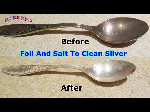Foil And Salt To Clean Silver