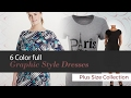 Plus Size Graphic Style Dresses // Featured on Amazon Fashion