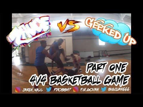 CHALLENGE || ZAUCE Vs SMARTMOUTH 4V4 BASKETBALL GAME (FIGHT BREAKS OUT)