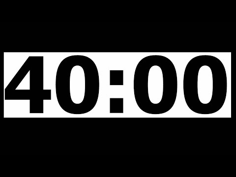 40 Minute Countdown Timer with Alarm