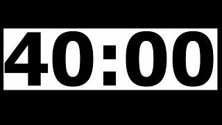 Video 40 Minute Countdown Timer with Alarm download MP3, 3GP, MP4, WEBM, AVI, FLV Juli 2018