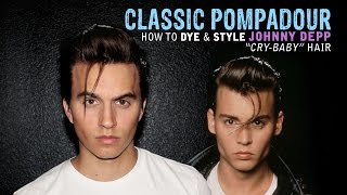 Pompadour | Mens Hair | Johnny Depp Cry Baby Hairstyle - Haircut