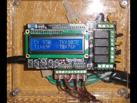 Arduino: Solar Collector & Radiant Heat Grid Controller