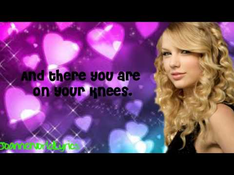 Taylor Swift- White Horse (Lyrics Video) HD