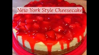 Creamy New York Style Strawberry Cheesecake Recipe