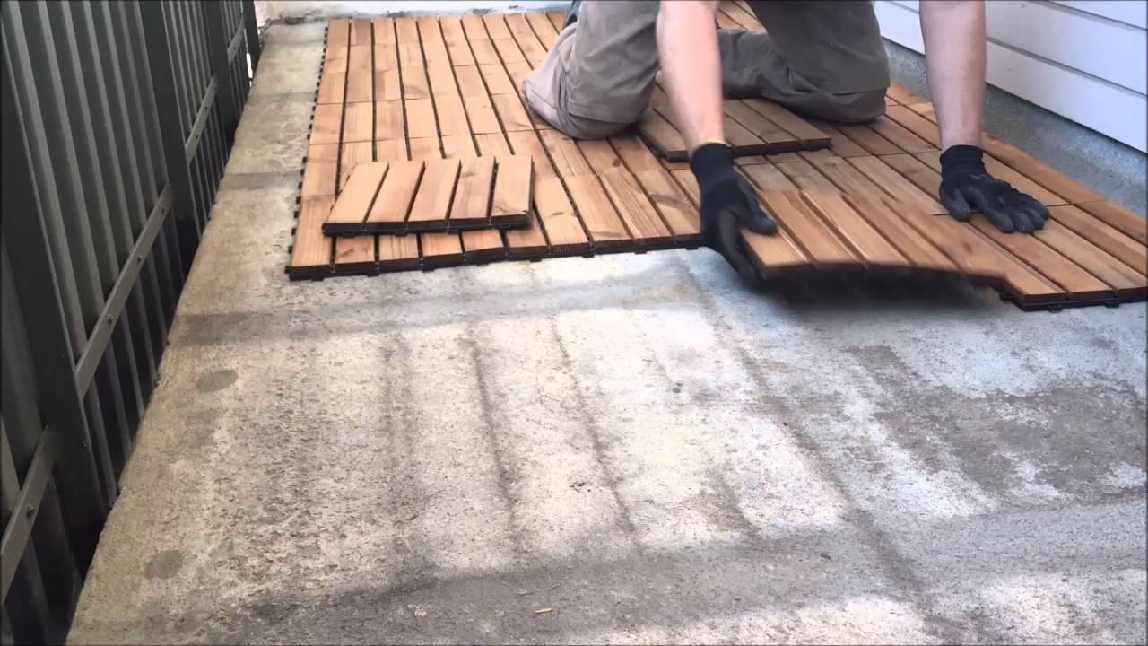 Inredning lägga trall på balkong : Balkongtrall 2016 - YouTube