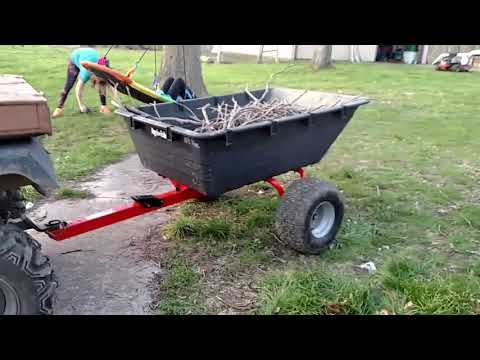 Agri-fab swivel cart 1000 lb poly wagon ATV Agrifab