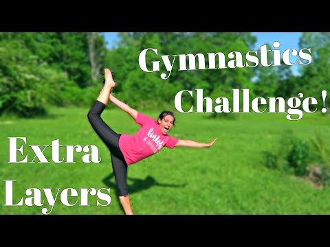EXTRA LAYERS GYMNASTICS CHALLENGE! | Clothes from Fairyseason