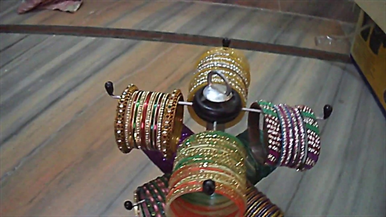 How to make a bangle stand at home with useless materials - YouTube