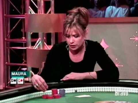 Maura on Celebrity Poker down Finale