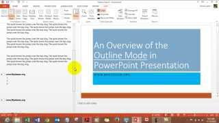Outline View in MS Powerpoint in hindi