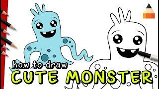 How To Draw Cute Monster | Draw with Timothy