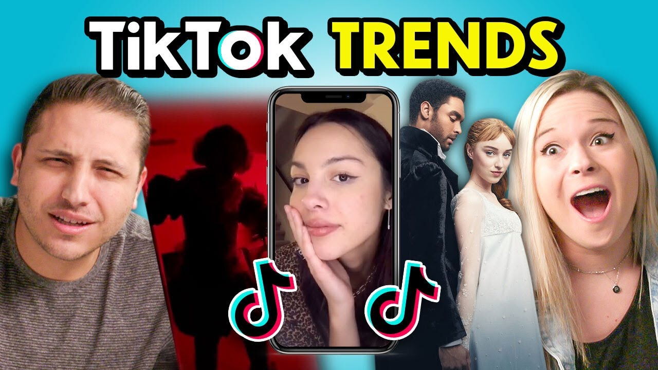 TikTokers React To Top TikTok Trends Of The Month (Drivers License, Buss It Challenge, Bridgerton)