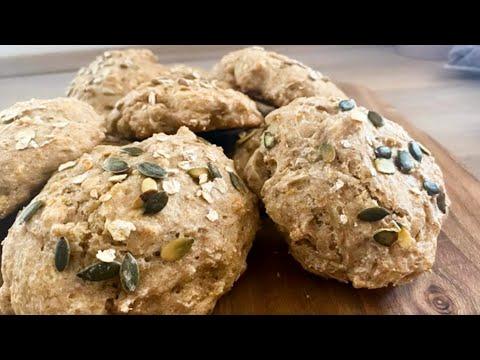 petits-pains-complets-et-à-la-levure-boulangère-sèche---sans-pétrissage---recette-#225